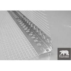 Narożnik aluminiowy 18X18X0,3mm z siatką 7x7cm