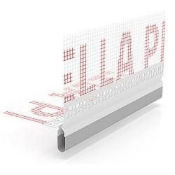 """BP16 L200 LISTWA PVC DYLATACYJNA Z SIATKĄ DO ELEWACJI TYPU """"v"""" - KĄTOWA"""